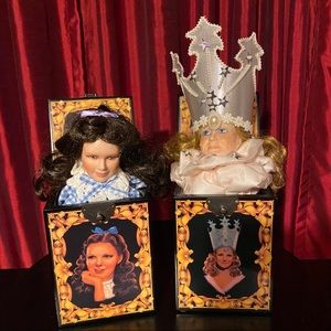 Wizard of Oz Musical Jack-in-the-Box Lot of 2